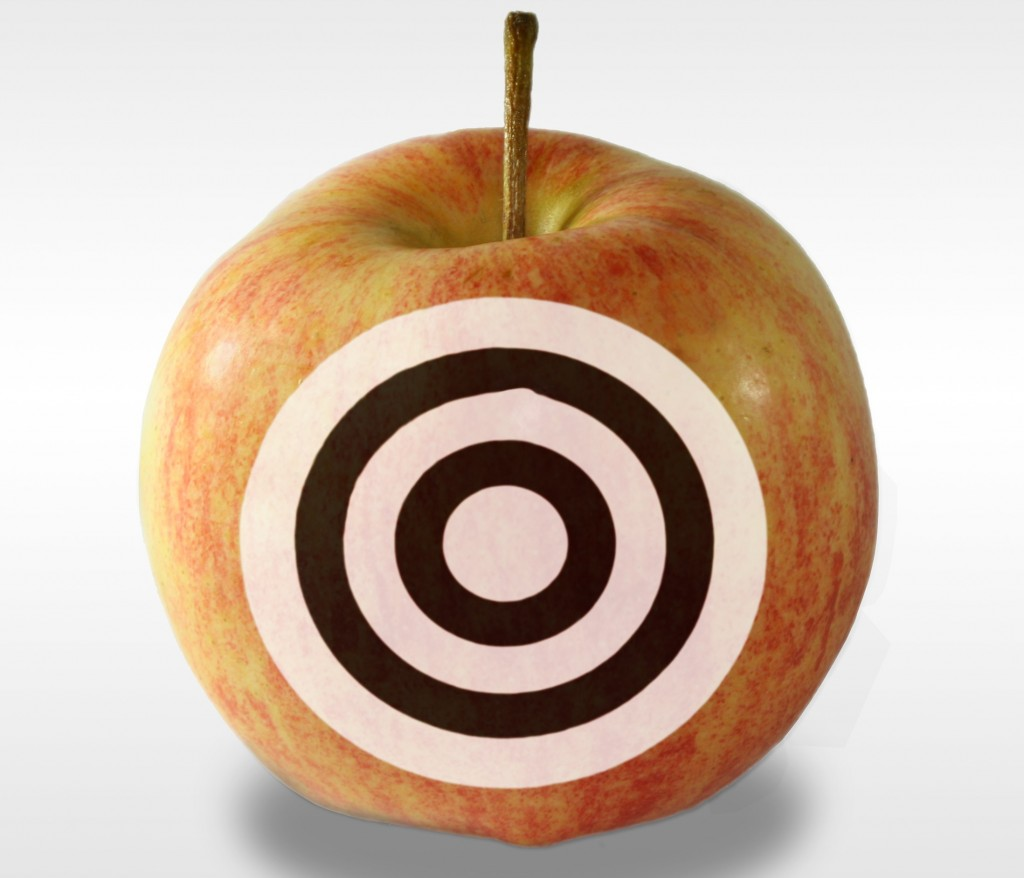 Target on apple