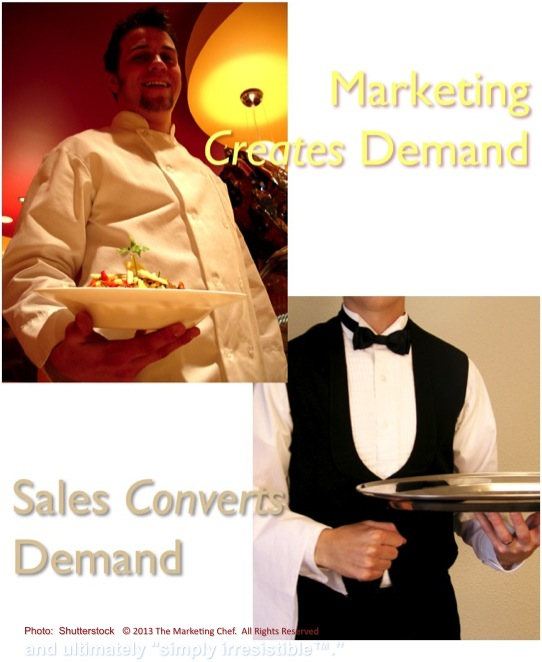 marketing versus sales like the chef vs. waiter