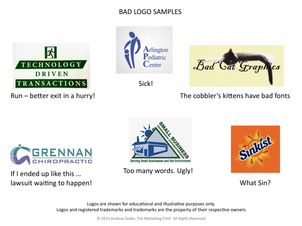 Logo Samples: Bad, Ugly, Fails